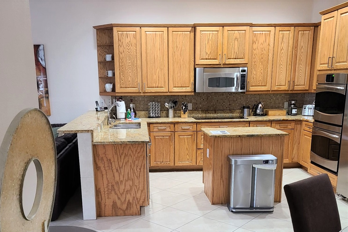 Kitchen with all the appliances you need