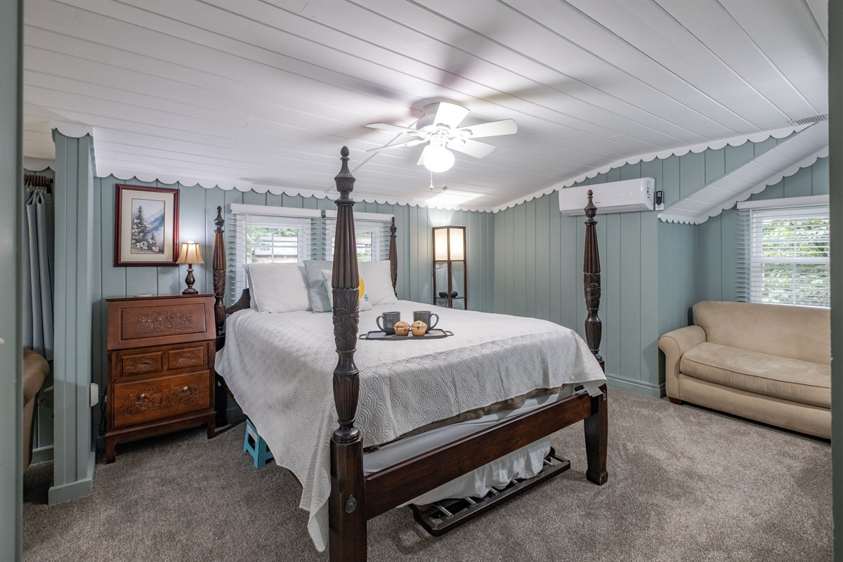 The Dogwood Suite (#1) is a large room with twin trundle and twin sofa sleeper.  A great room to keep the kids close!