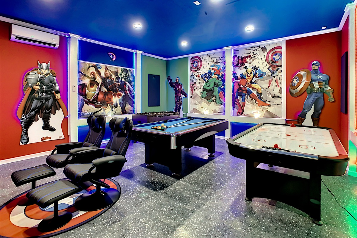 Have Great Fun In This Incredible Game Room
