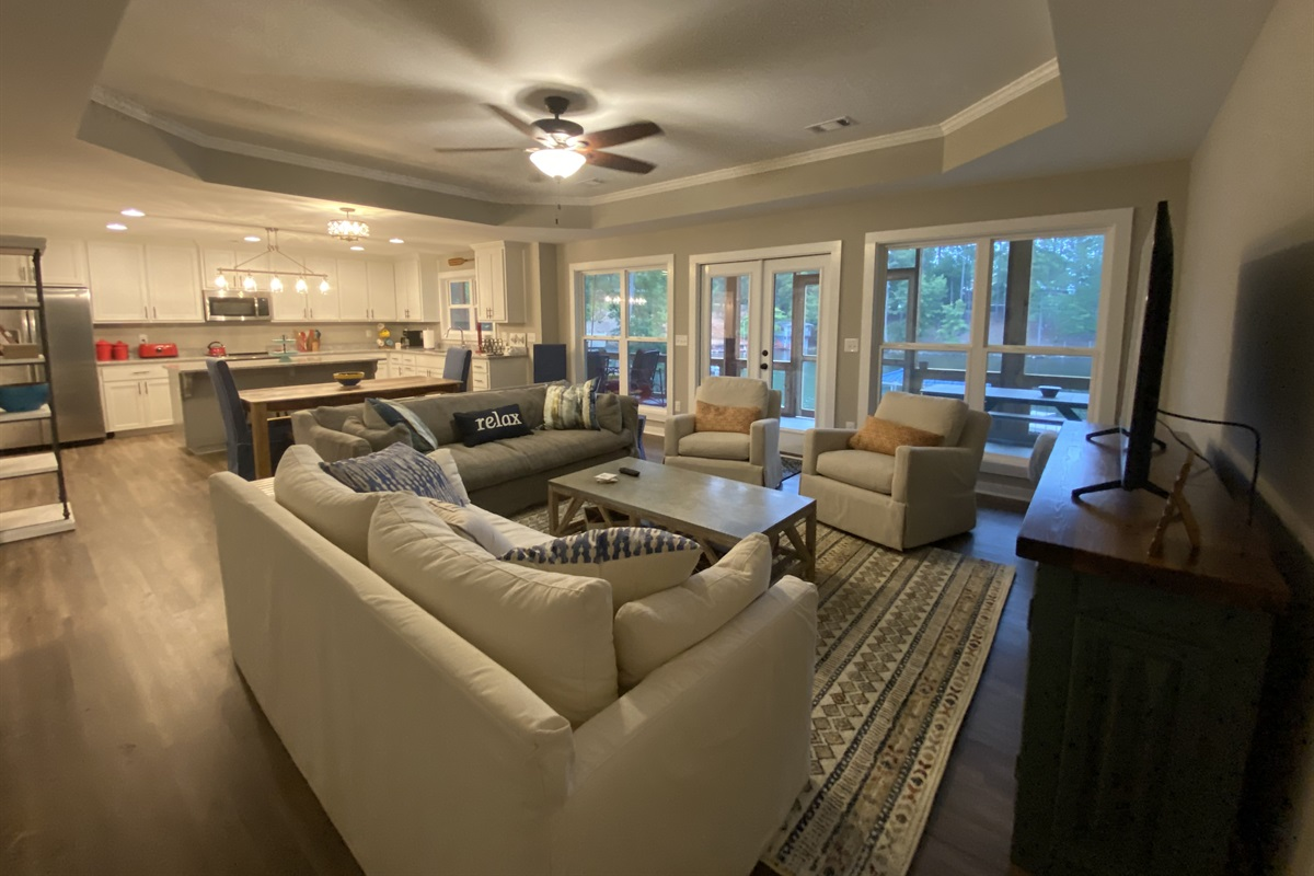 Spectacular views of the lake in the Living Area.