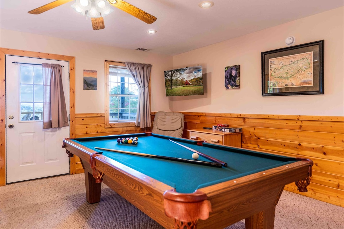 Have fun playing pool in your private cabin