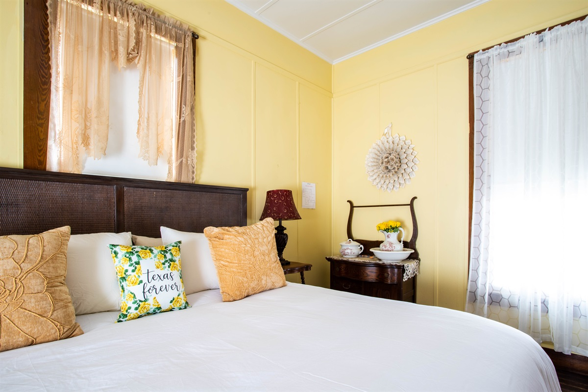 Relax away in the Yellow Rose!