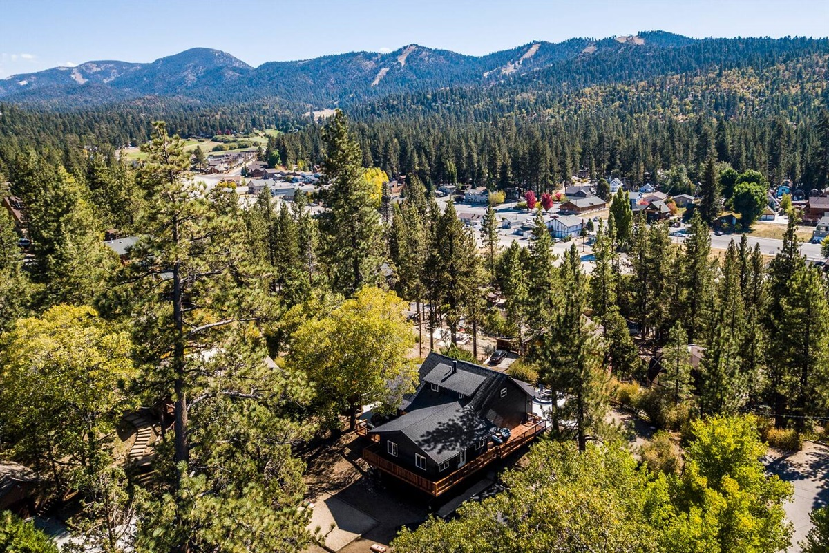 Fox Haus has a large 14,000+ square foot lot that offers privacy for the perfect getaway.
