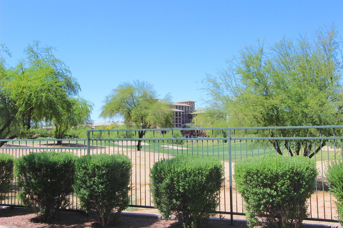 View of The Westin and fairway from the patio.
