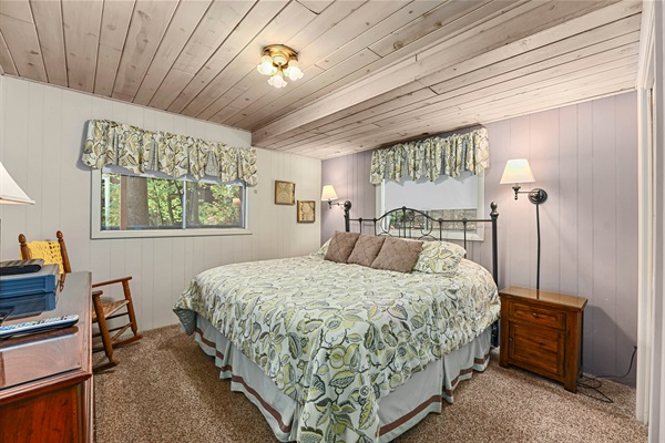 King bedroom located on the lower level