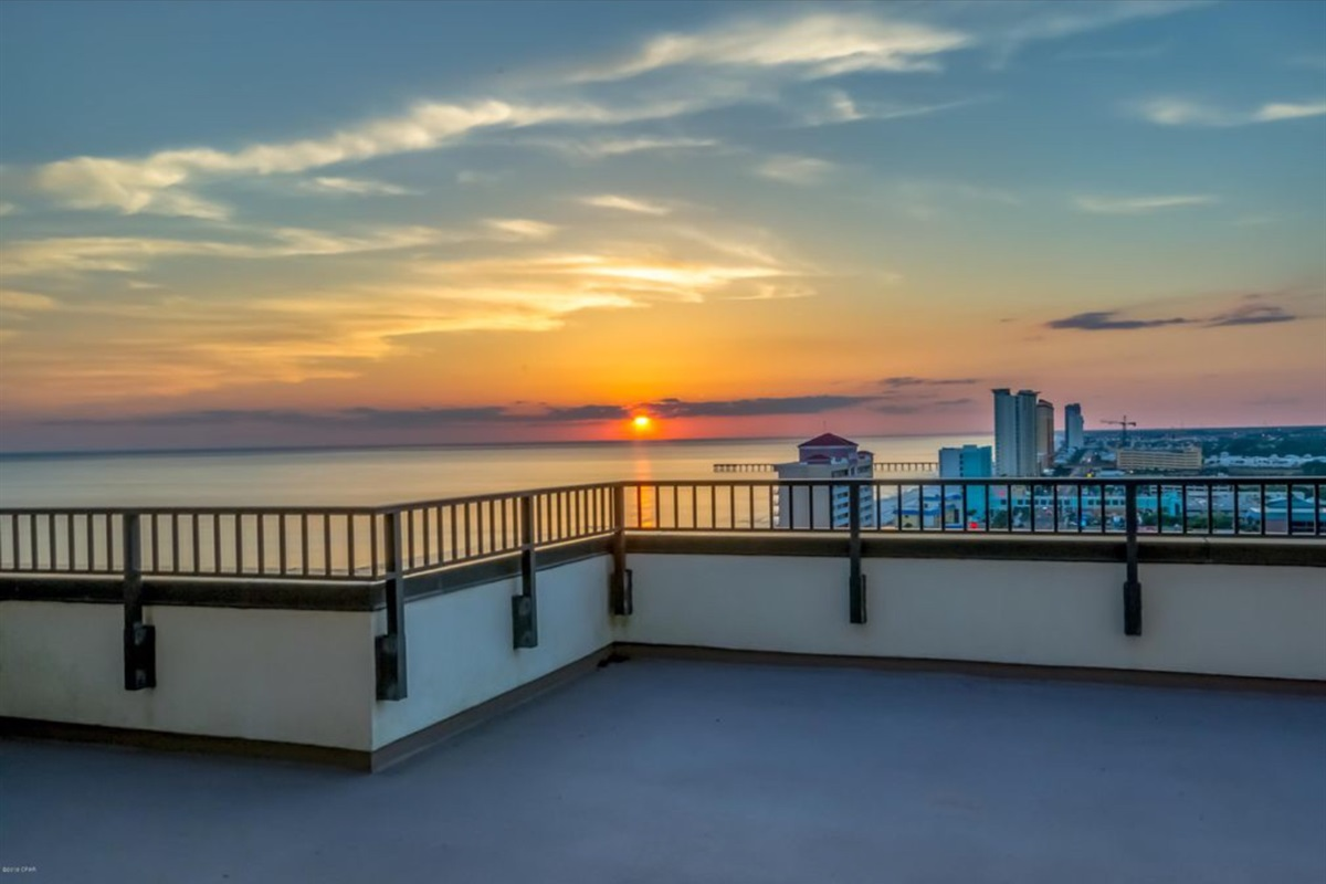 Top floor where you can watch the sunset or sunrise