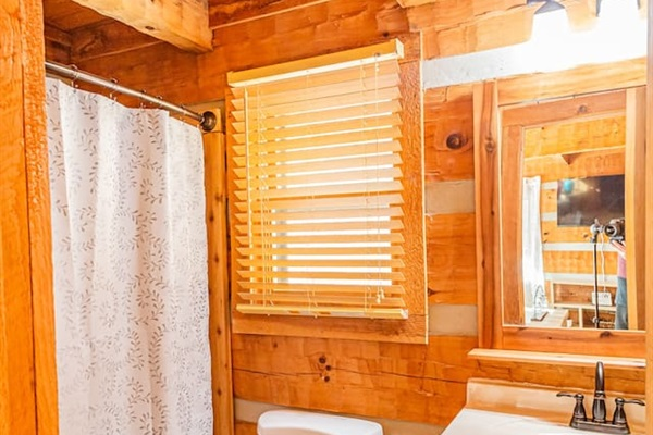 1 full bath + .5 bathroom