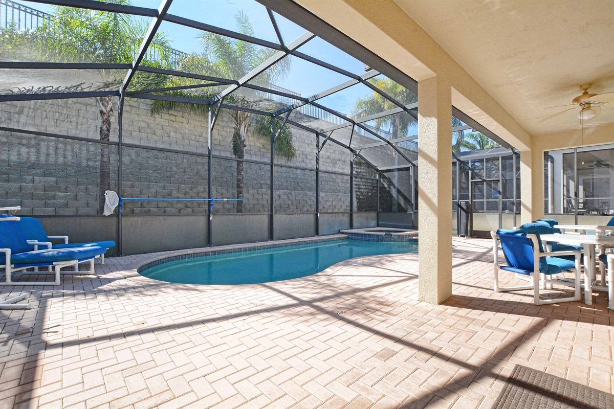 Private south facing saltwater pool.