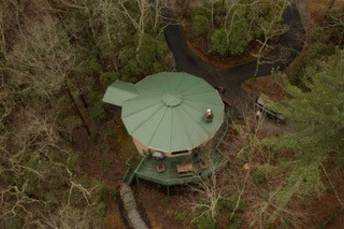 Bird's eye view of this unique round house.