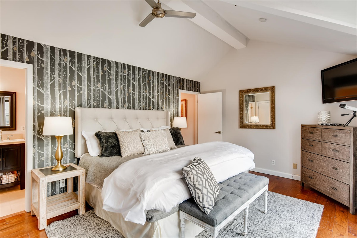 Master Bedroom Suite.  High end finishes, ceiling fan.