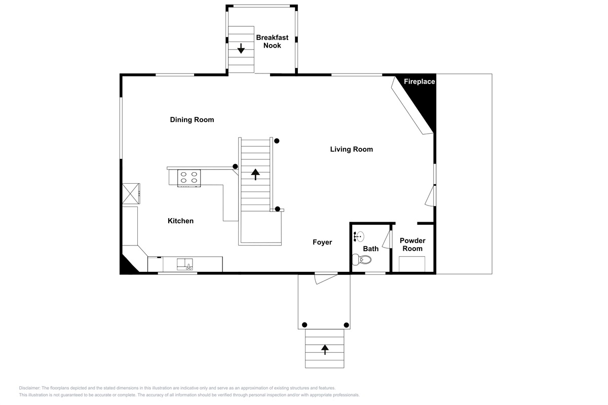 Main level home layout