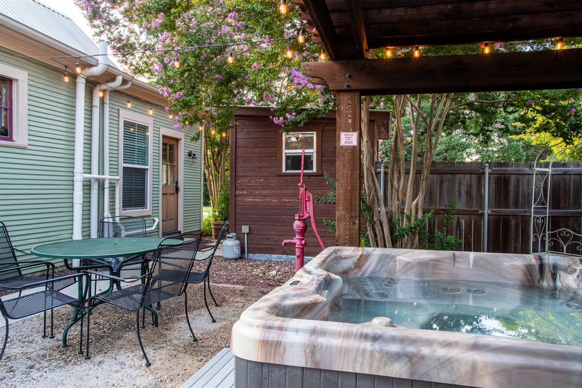 Soak in the hot tub after a day of wineries