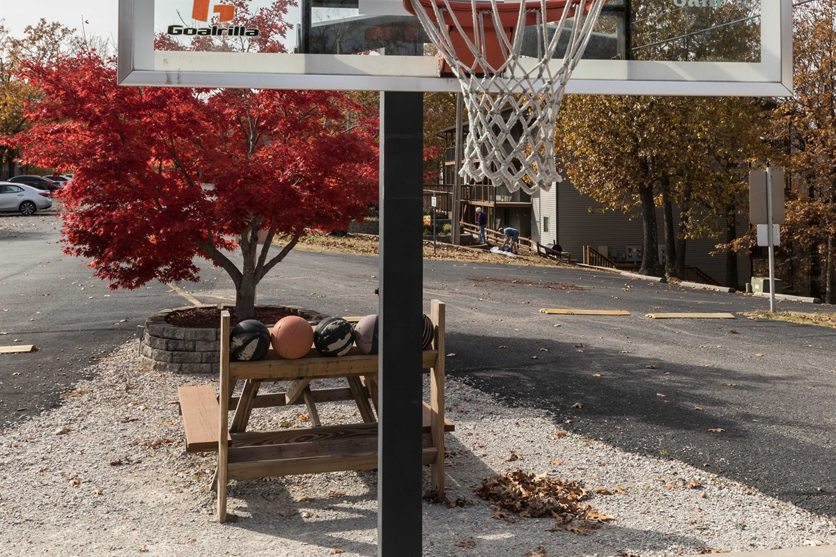 Enjoy a pick-up game of basketball!