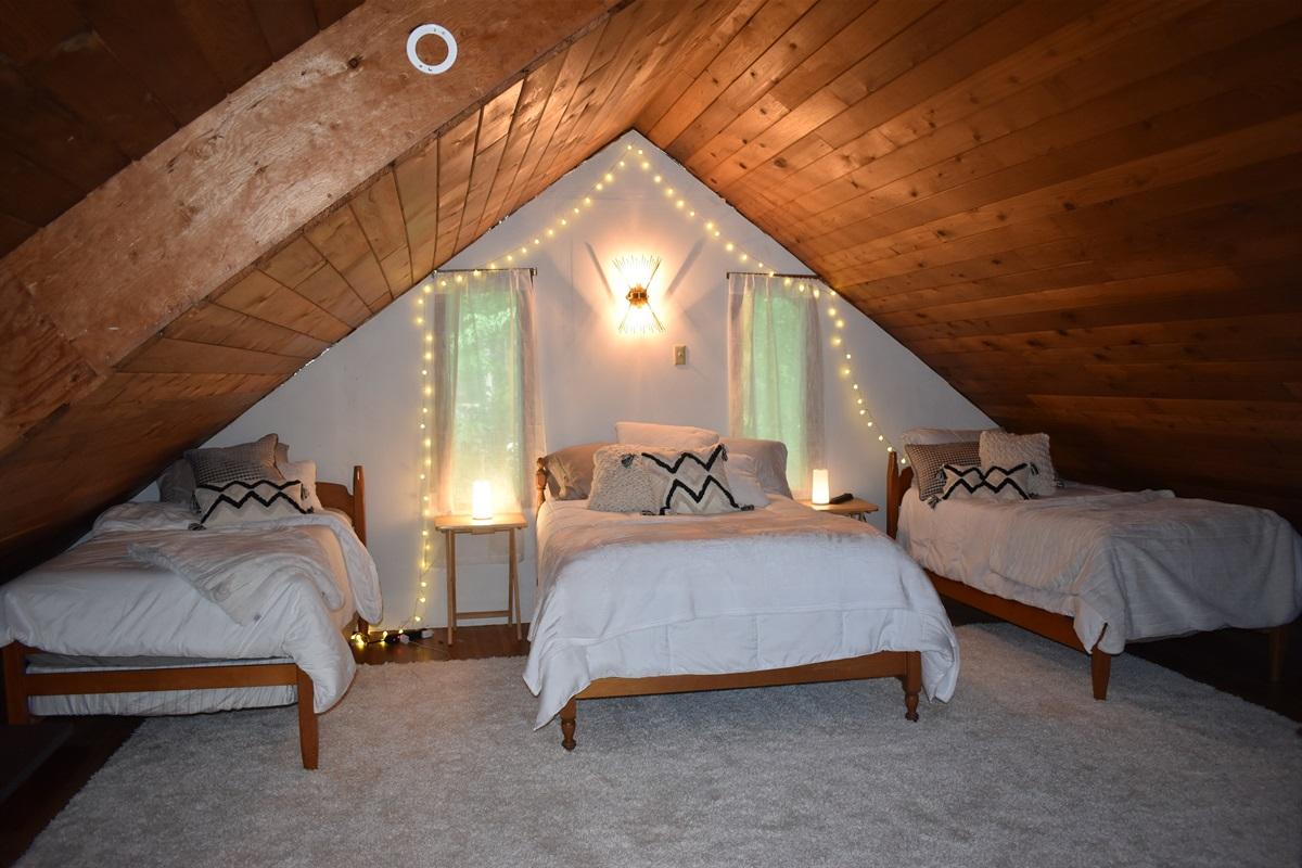 Sleeping Loft With Comfortable Beds