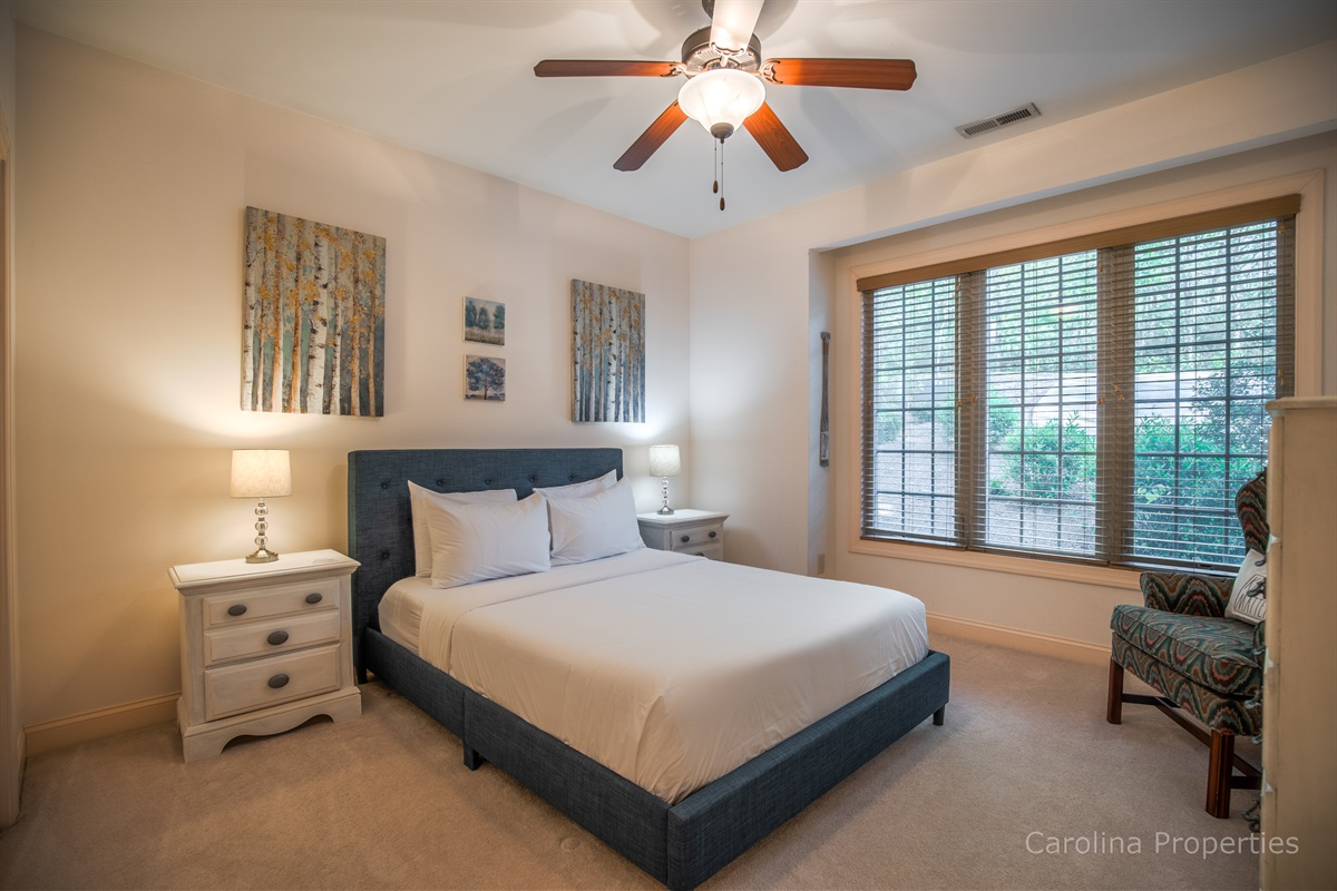 Main level bedroom 2 with queen size bed