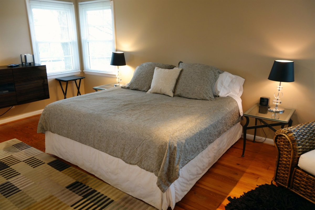 Modern comfortable bedrooms