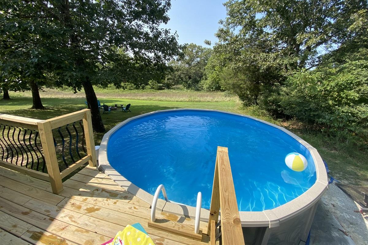 18' round pool