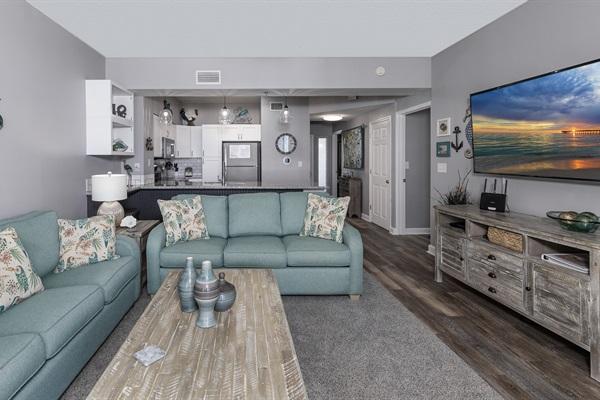 "Family Room w/ 65"" TV"