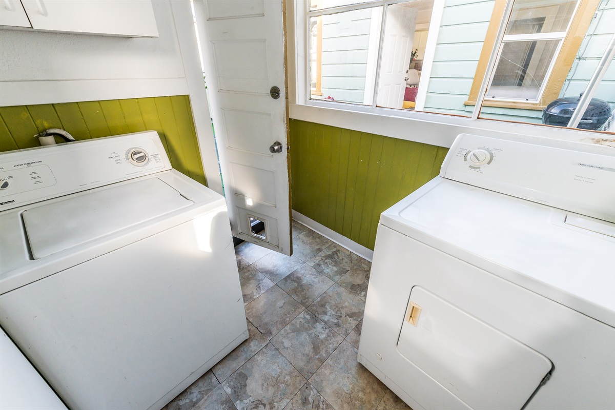 Free access to washer and dryer