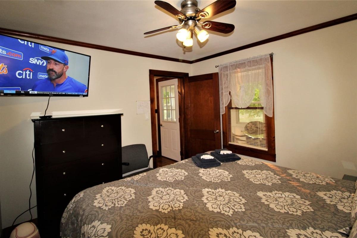 Bedroom #1 - large flat screen smart Roku TV in every bedroom
