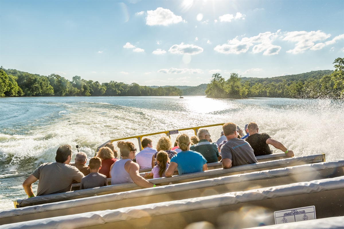 A jetboat ride on the lake is an experience you won't forget!
