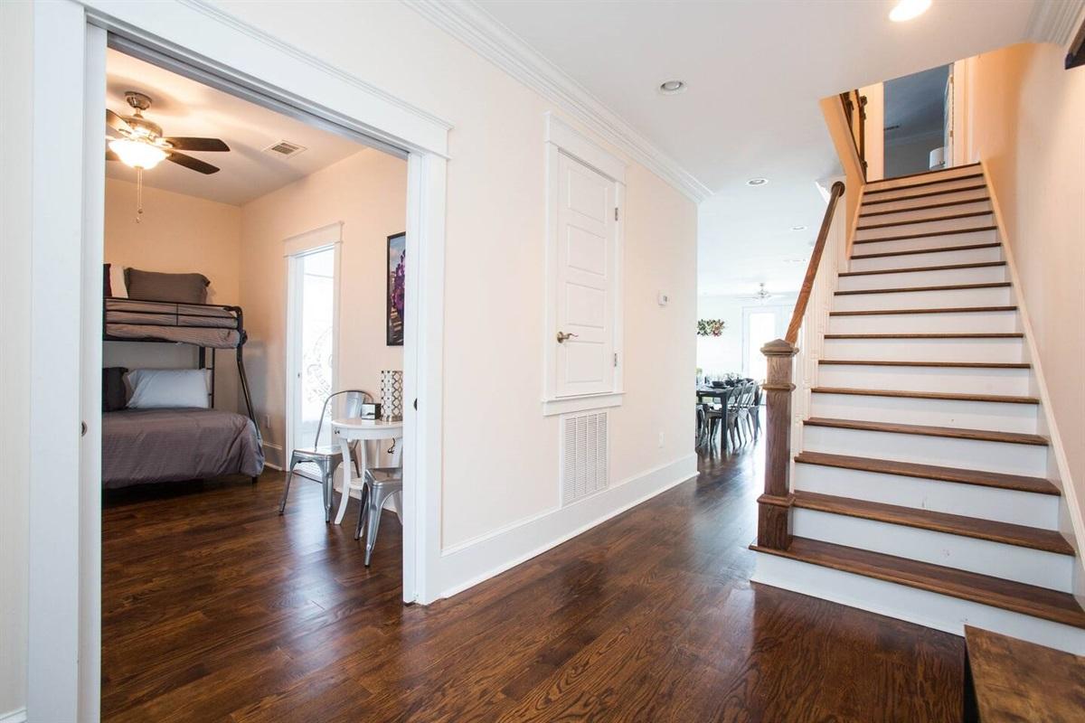 Entryway looking into bedroom 4.