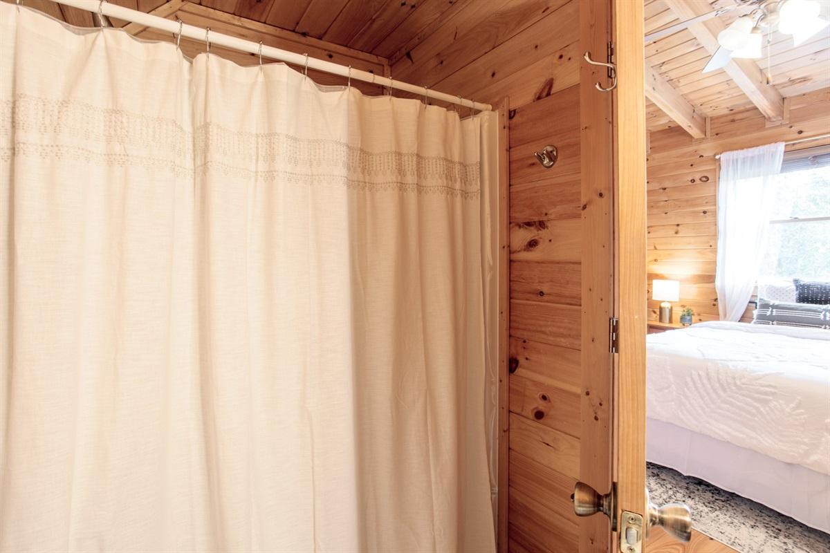 Walk-in Shower in Upstairs Bath