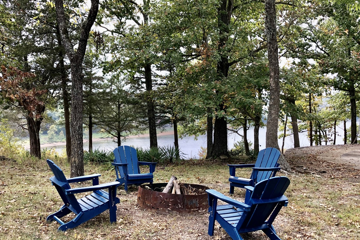 Or maybe this will become your favorite spot. S'mores by the fire with this view - pretty special!