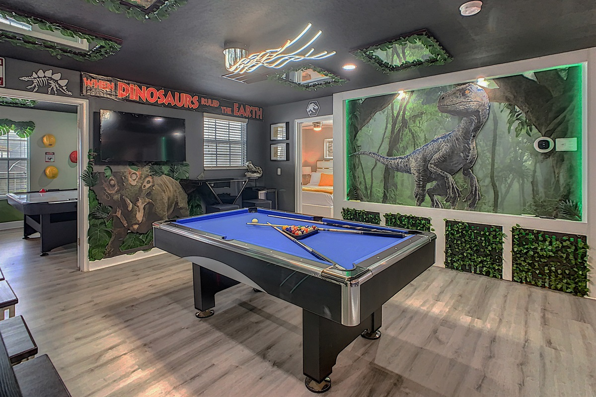 Adult Game Room-Pool Table And Smart TV