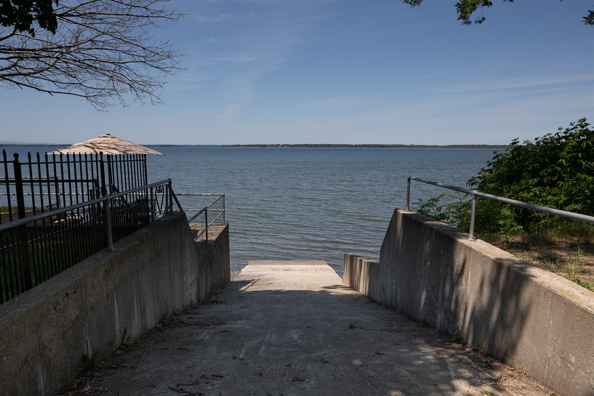 Lake access from private ramp