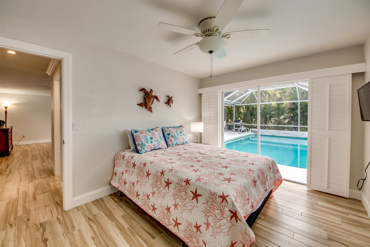 Queen guest room with view!