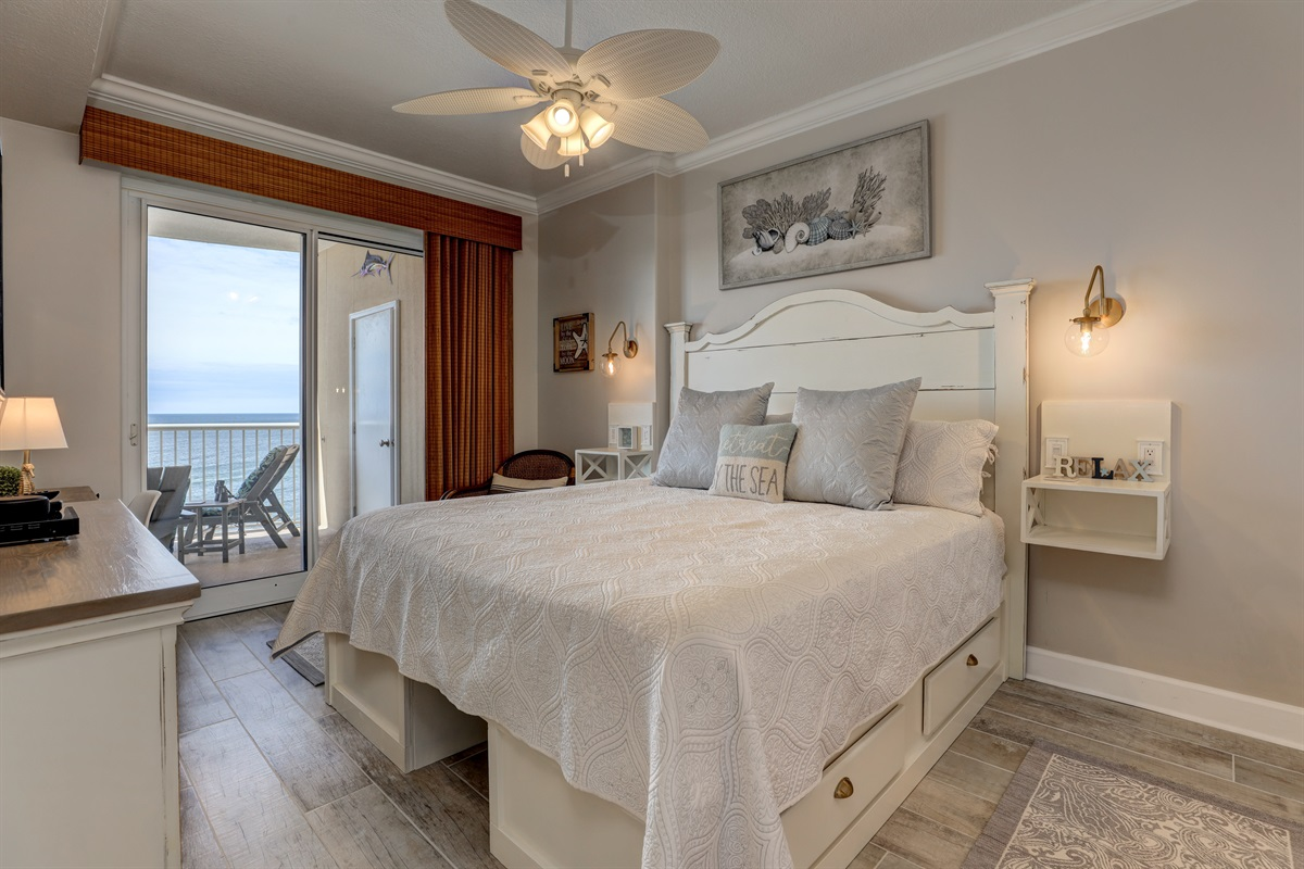 King Size Bed in Master