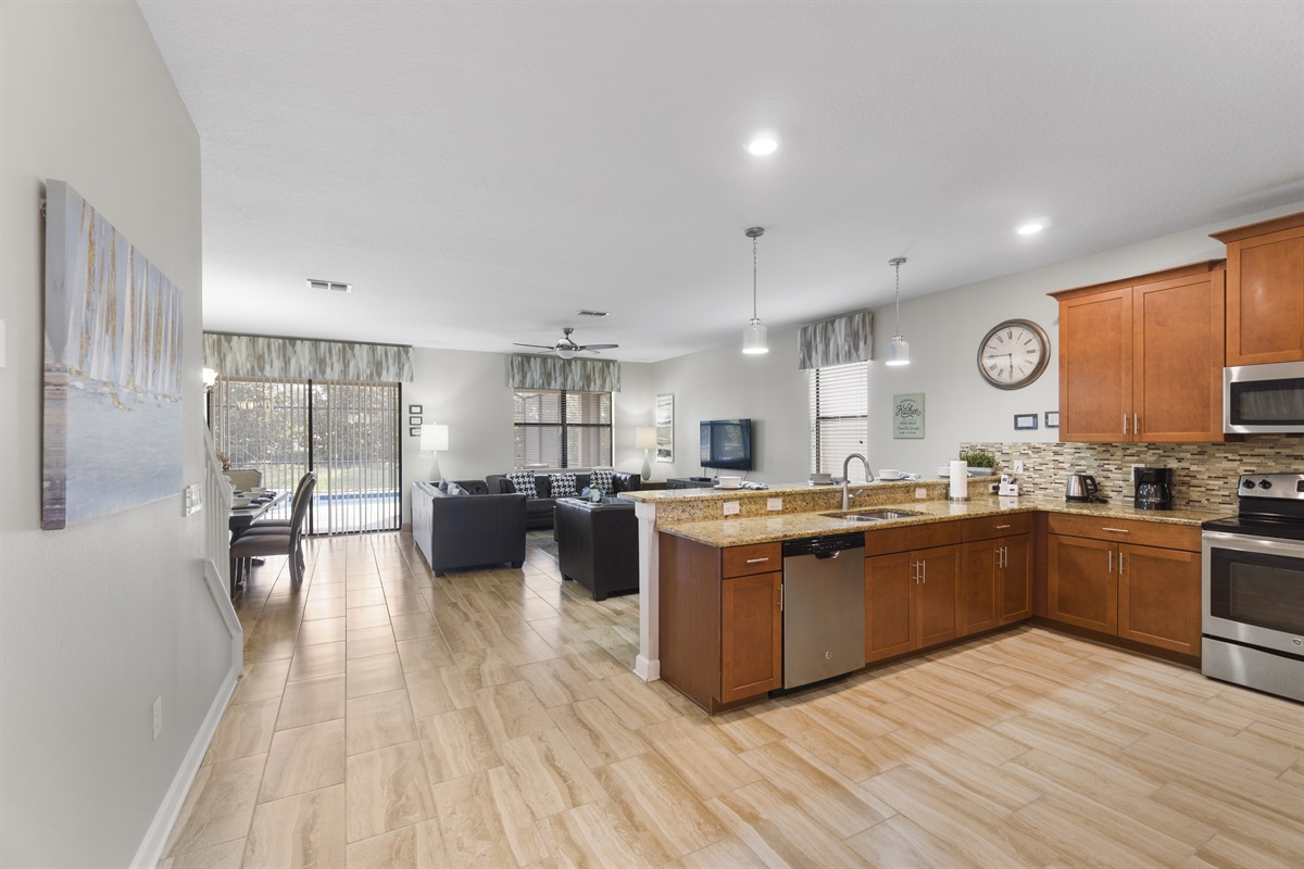 Kitchen Is Made To Entertain