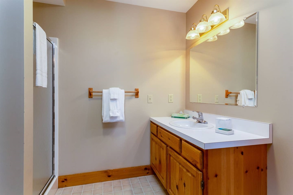 Basement shared bathroom