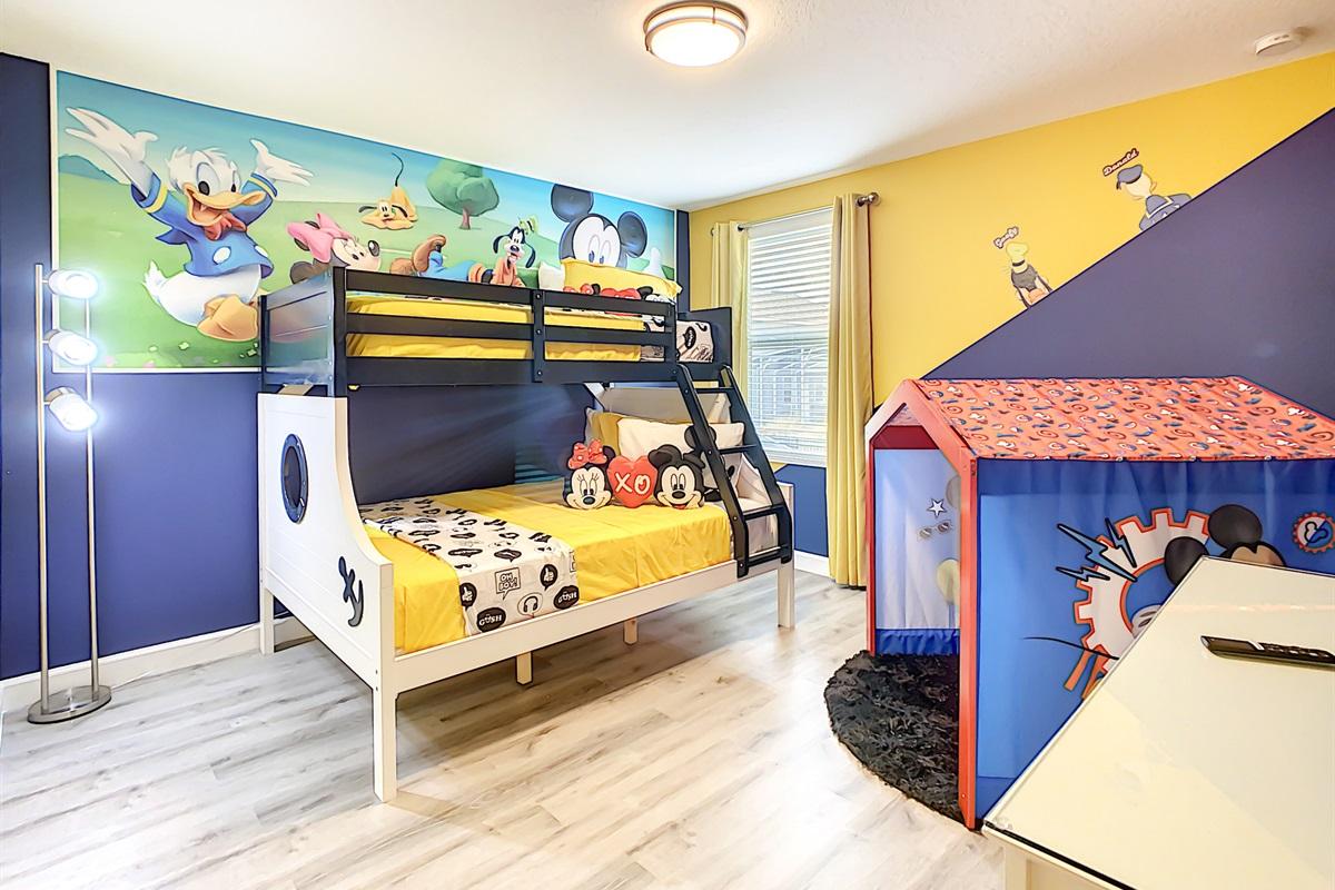 a Disney themed bedroom,