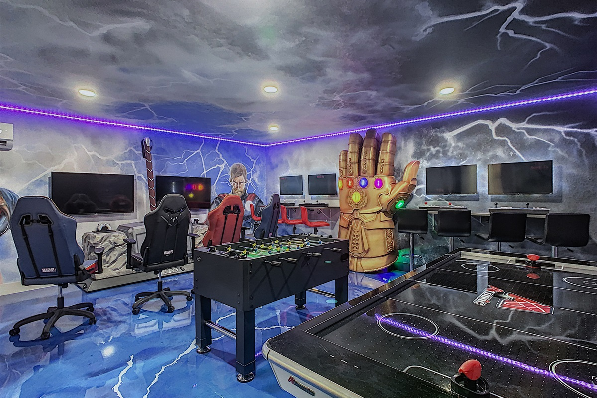 Incredible Air Conditioned Avenger Themed Game Room