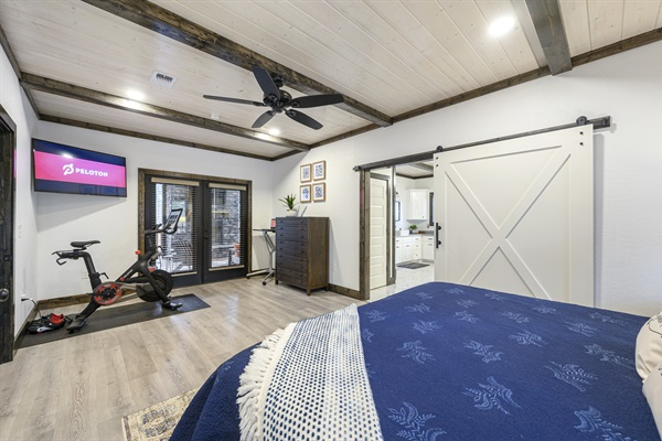 Master suite with direct access to back patio. Peloton bike available