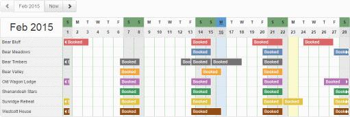 Ribbon Calendar Widget