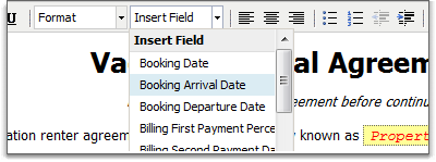 Booking arrival and departure dates added to mail merge fields on custom renter agreements