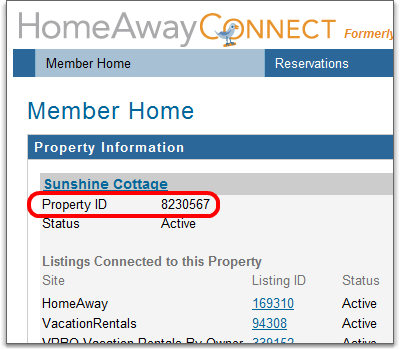 how to find your property ID for homeaway connect