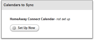 calendar sync for homeaway connect overview, not set up
