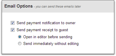 payment email options