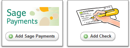 sage payments and manual checks
