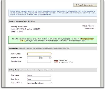 payments guest form