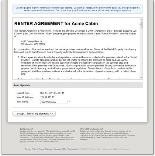 renter agreement public form